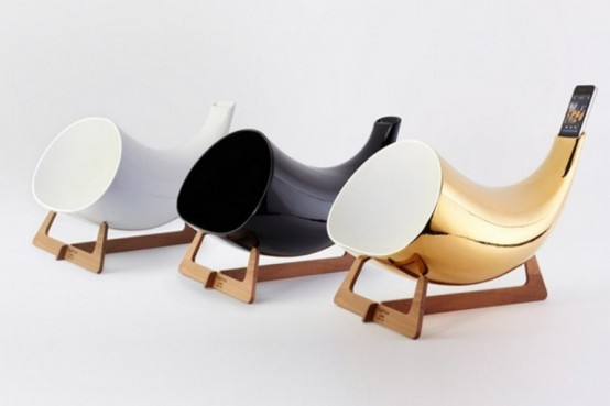 Cool Looking Megaphone iPhone Dock