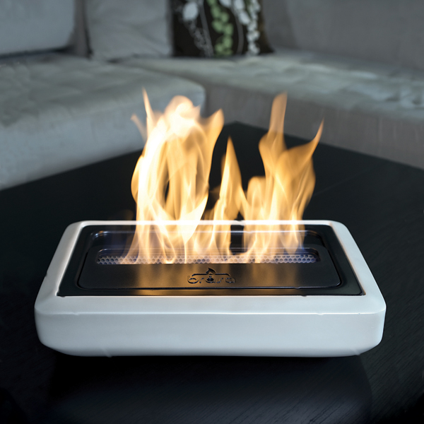 Portable Electric Lights : Modern portable fireplaces and fire lamps digsdigs