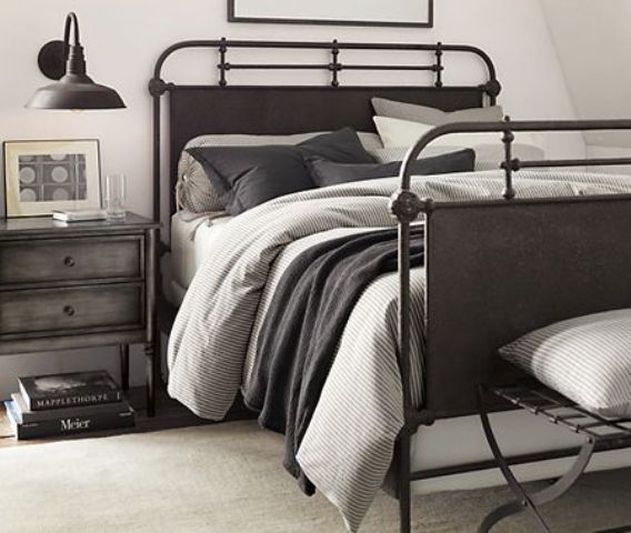 Metallic Masculine Bedroom: 43 Stylish Masculine Headboards For Your Man's Cave