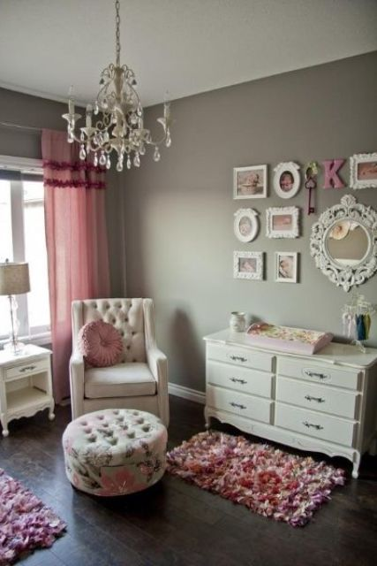 Metallic Grey And Bold Pink Home Decor Ideas
