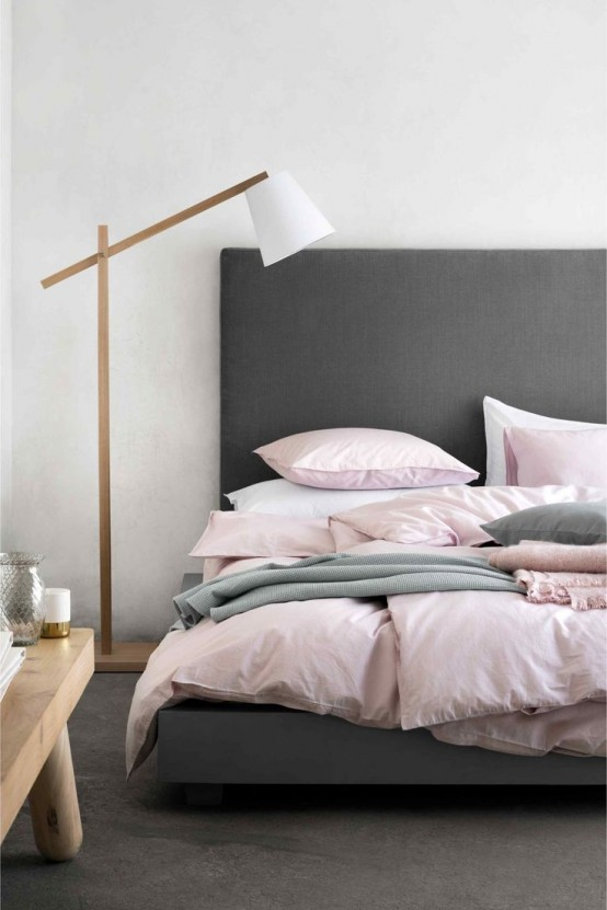 metallic grey and pink 27 trendy home decor ideas digsdigs 18834 | metallic grey and bold pink home decor ideas 11 554x831