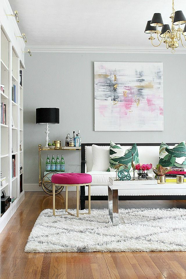 Metallic grey and pink 27 trendy home decor ideas digsdigs for Trendy home accessories