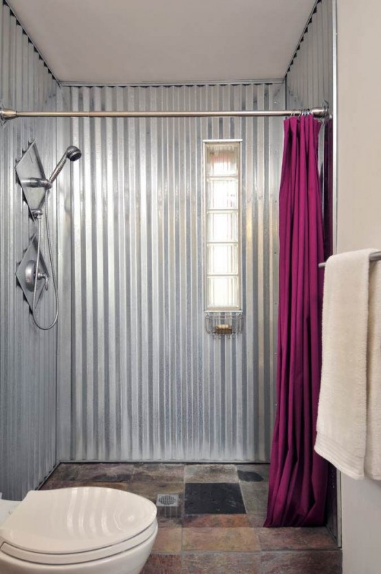 Metallic grey and pink 27 trendy home decor ideas digsdigs for Gray and pink bathroom ideas