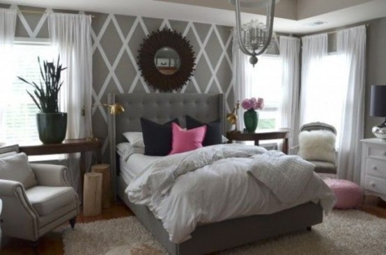 Http Www Digsdigs Com Metallic Grey And Pink 27 Trendy Home Decor Ideas