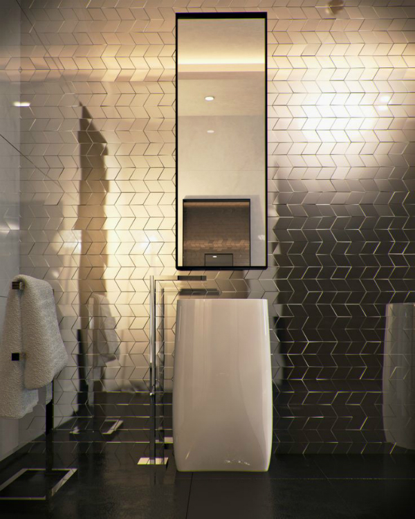 The Hottest Decor Trend 27 Metallic Tile Decor Ideas