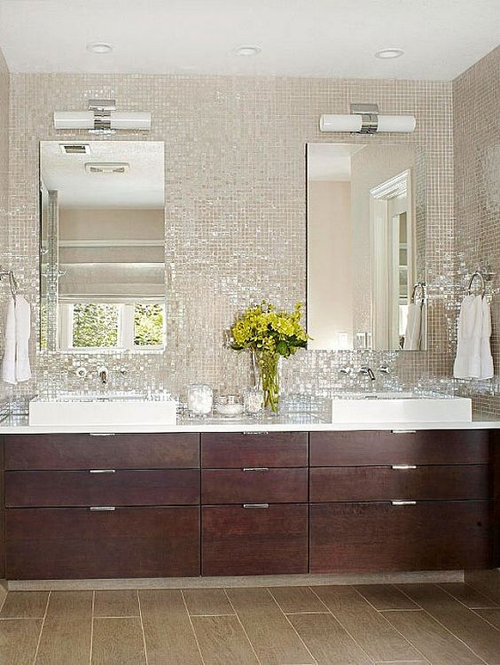 The hottest décor trend: 27 metallic tile décor ideas   digsdigs