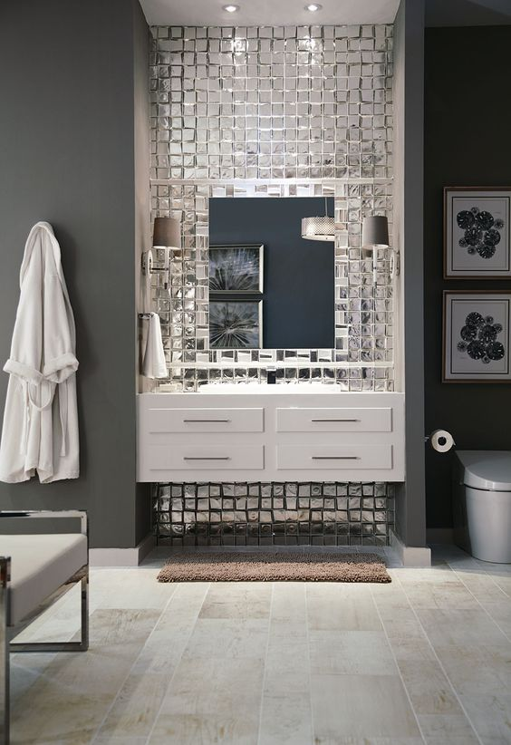 the hottest d cor trend 27 metallic tile d cor ideas