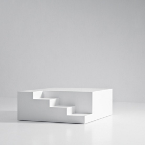 Mezzanino Coffee Table With Architectural Details