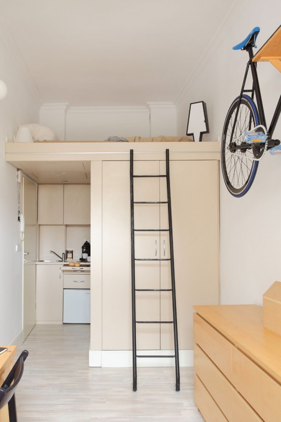 Micro Yet Airy Apartment Of Just 13 Square Meters Digsdigs