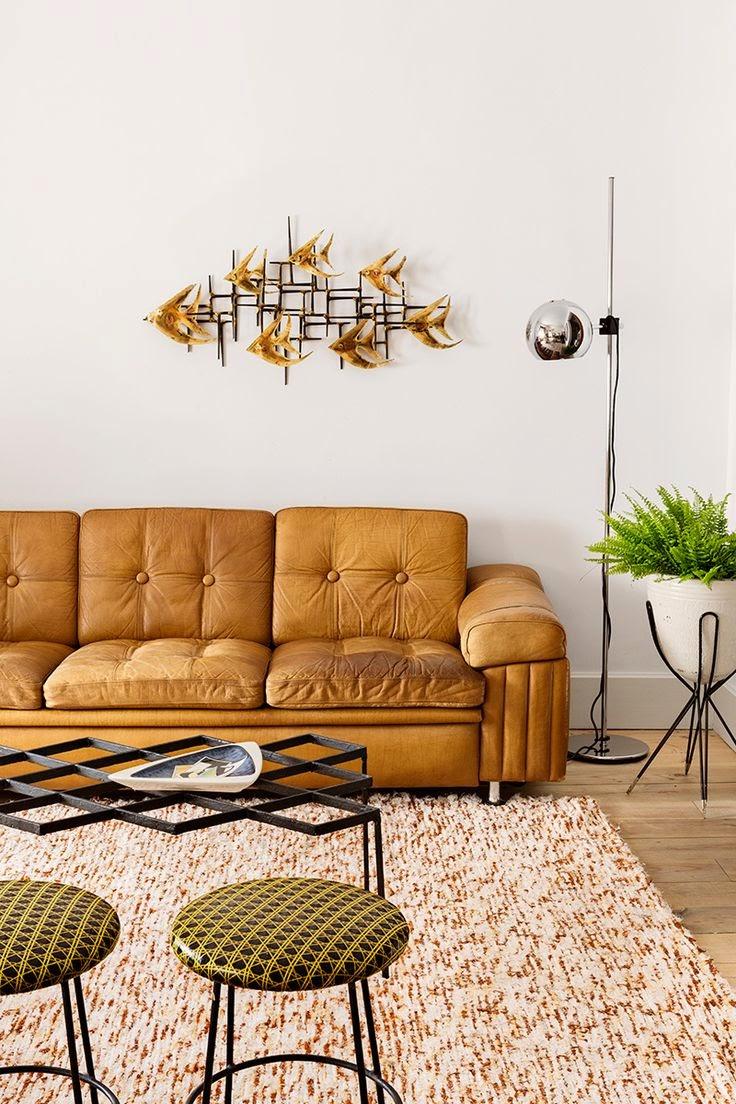Mid-Century Madrid Apartment In Warm Colors