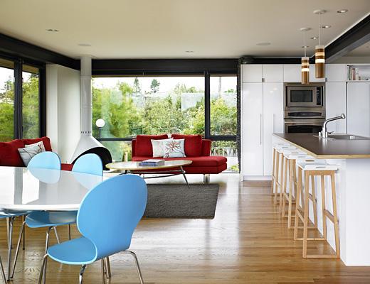 mid century modern aesthetic house renovation