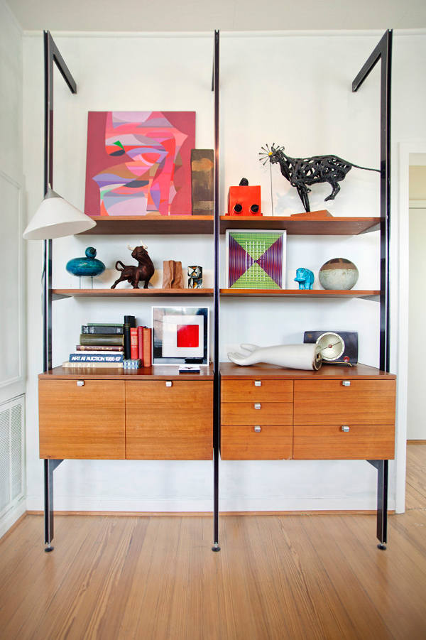 Picture Of mid century modern apartment in bold and lively shades  5