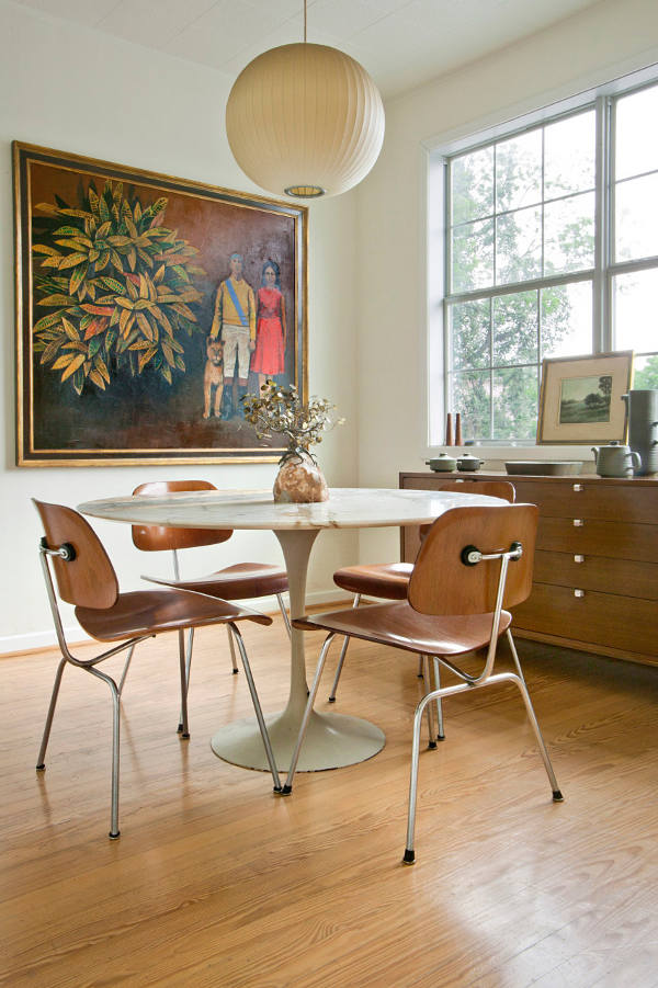 Picture Of mid century modern apartment in bold and lively shades  9