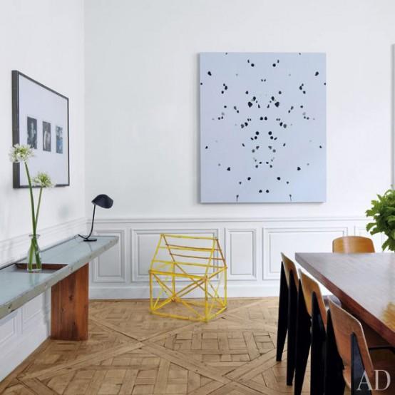 mid century modern art filled apartment digsdigs