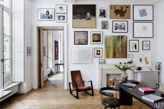 lovely airy scandinavian and mid century modern apartment digsdigs | Mid-Century Modern Art-Filled Apartment - DigsDigs