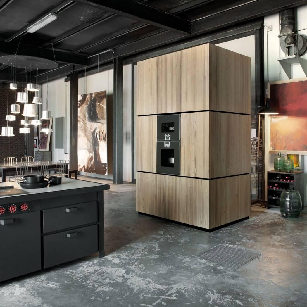 Picture Of milan industrial loft with dark industrial metals in decor  5