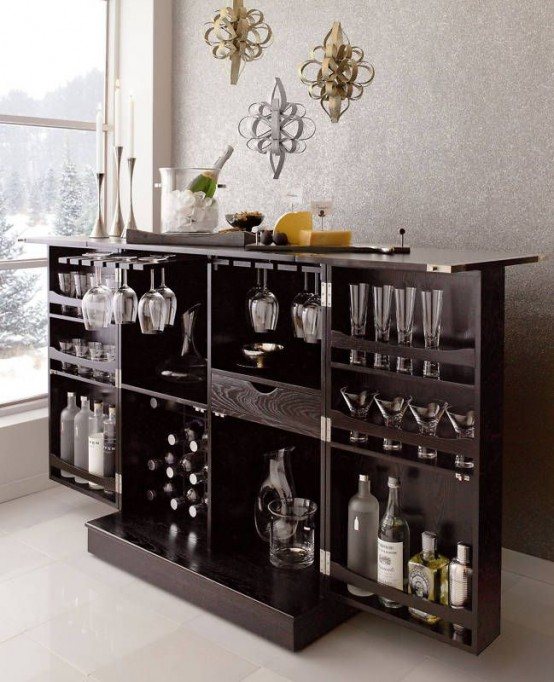Awesome Home Mini Bar Part - 14: Mini Bar Designs You Should Try For Your Home