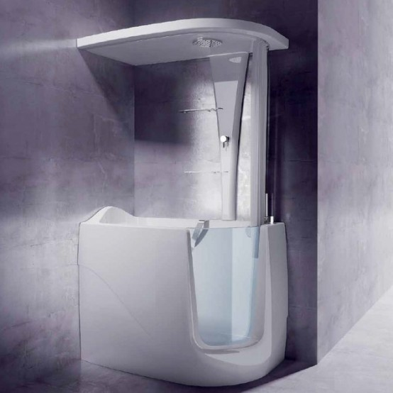 Exceptionnel Mini Bathtub And Shower Combos For Small Bathrooms