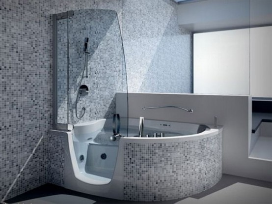 15 Mini Bathtub And Shower Combos For Small Bathrooms - DigsDigs