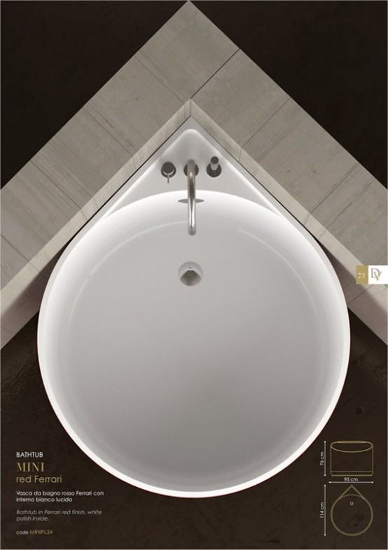 Cool mini bathtub of fiberglass for small spaces digsdigs for Tiny bathtub