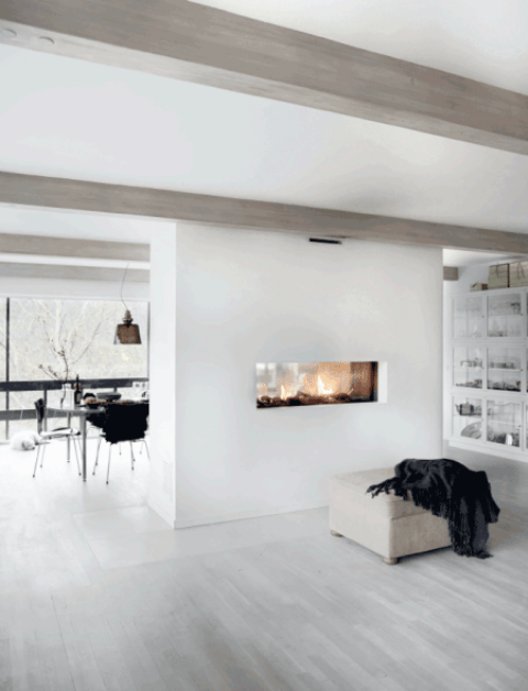 Minimal House With Glazed Walls And Stylish Accents