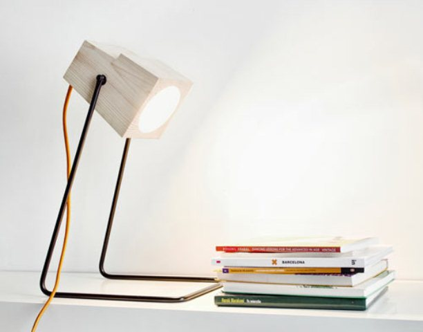 Minimalist 360° Table Lamp Of Natural Wood