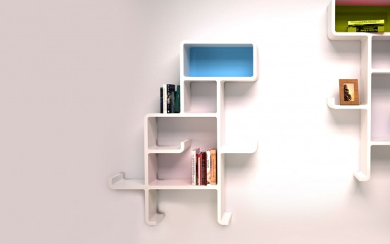 Minimalist And Customizable Dinosaur Shelving Unit