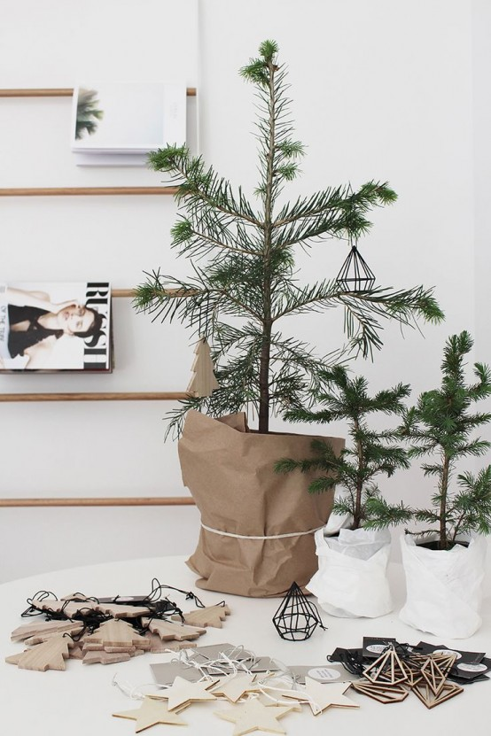 22 minimalist and modern christmas tree d cor ideas digsdigs - Modern christmas tree ideas ...