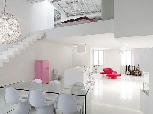 Minimalist And Modern Loft Interior Design