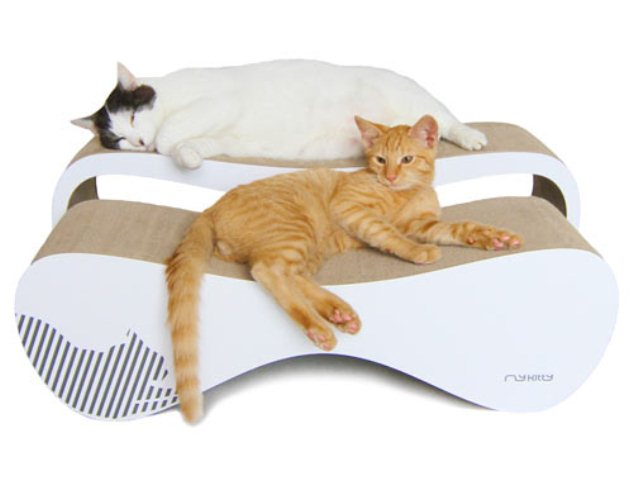Minimalist and stylish cat beds and scratchers digsdigs - Contemporary cat furniture ideas ...