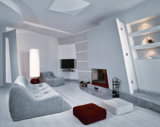 Apartment With Minimalist Gray Interior For A Young Woman