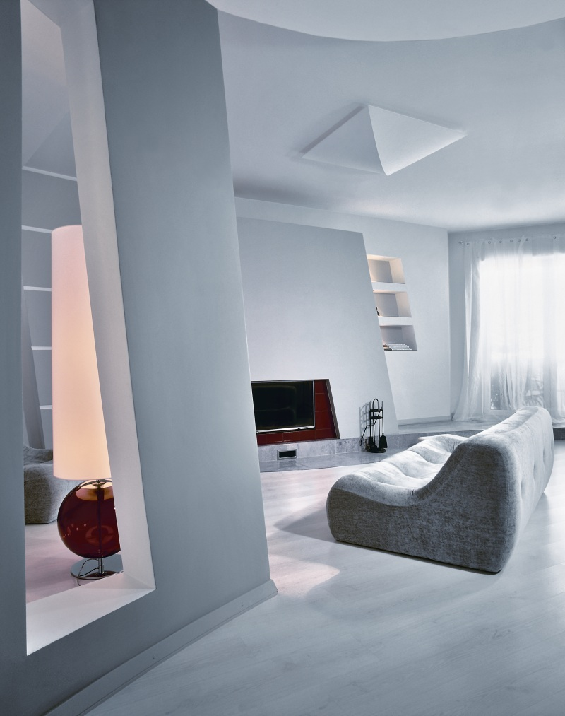 Apartment with minimalist gray interior for a young woman for Minimalist small apartment