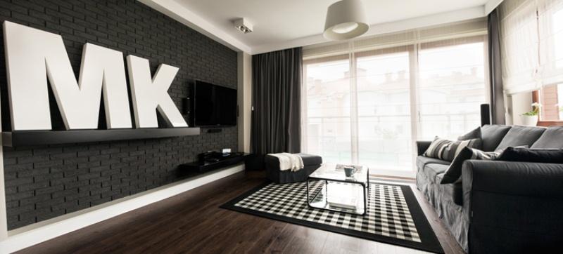 Minimalist Apartment Designed In Dark Colors And Shades