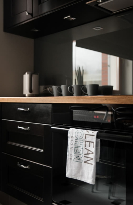 Minimalist Apartment In Dark Colors And Shades