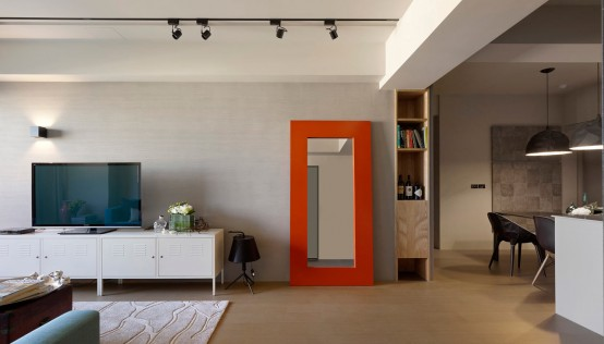 Minimalist Apartment With Pops Of Colors