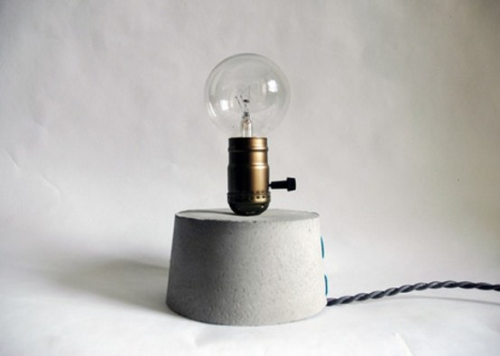 Minimalist Art Of Light: Concrete Lights Experiment