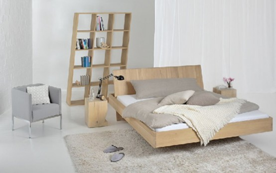 Minimalist Bed With A Useful Tray Area