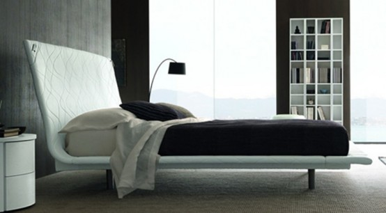 Minimalist Bed With The Corners That Can Be Curved