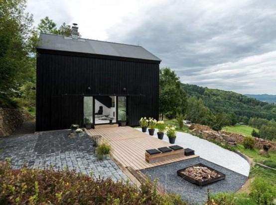 Minimalist Black And White Barn Renovation