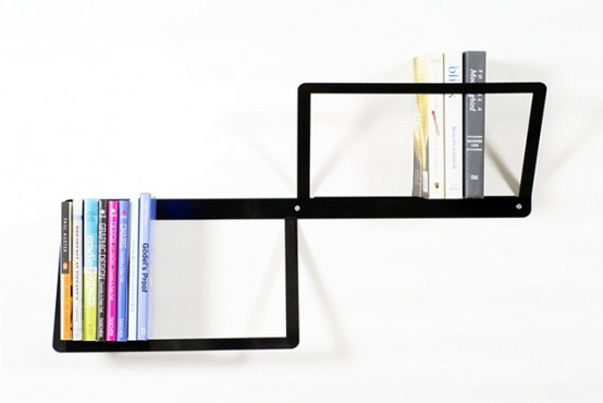 Minimalist Black Duo Bookshelf