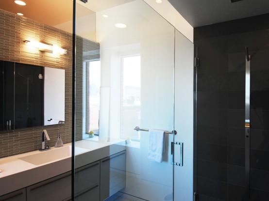 Minimalist Black White Living Space