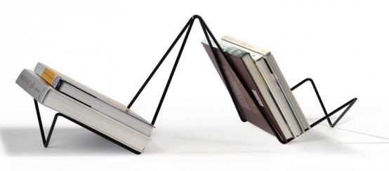 Minimalist Steel Books Organizer – Lako by Marko Macura
