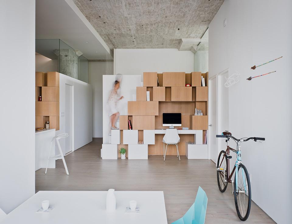 Minimalist Brooklyn Loft With Asymmetrical Design