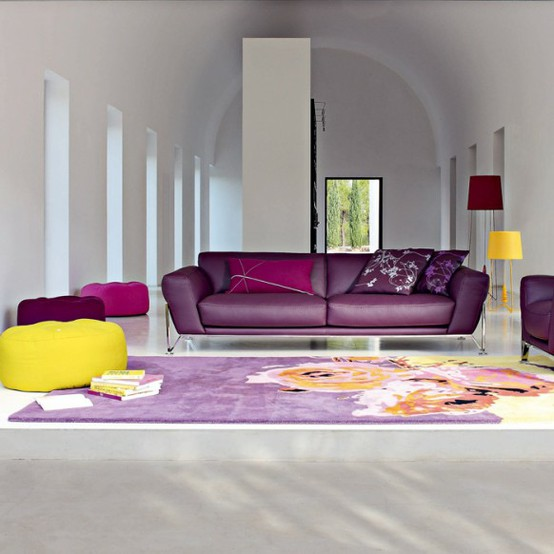 Minimalist But Colorful Living Room Design