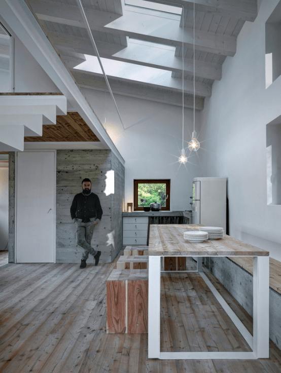 Minimalist Cabin Covered With Stone From Ruins Digsdigs