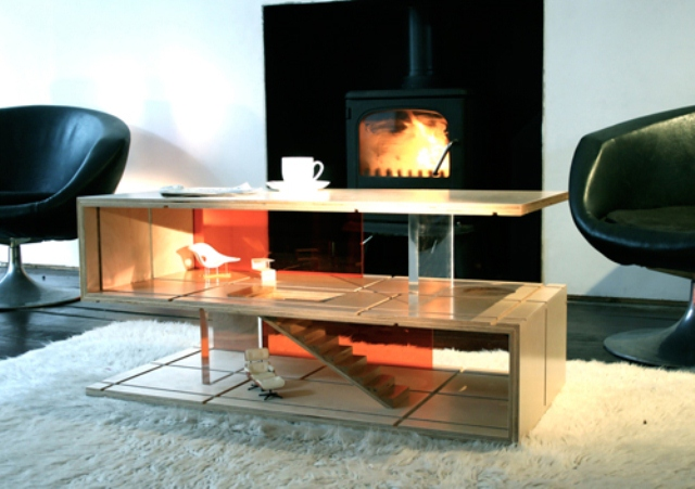 Minimalist Coffee-Table And Dollhouse In One
