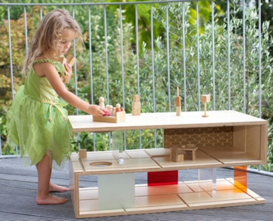 Minimalist Coffee Table And Dollhouse In One
