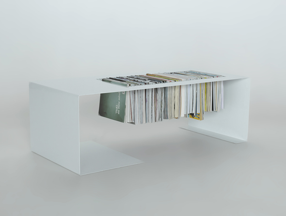 Minimalist Coffee Table With A Built In Magazine Rack Digsdigs