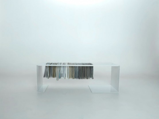 Minimalist Coffee Table Magazine Rack