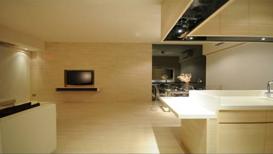 Minimalist Yet Comfortable Apartment Interior Design in Only 3 Colors